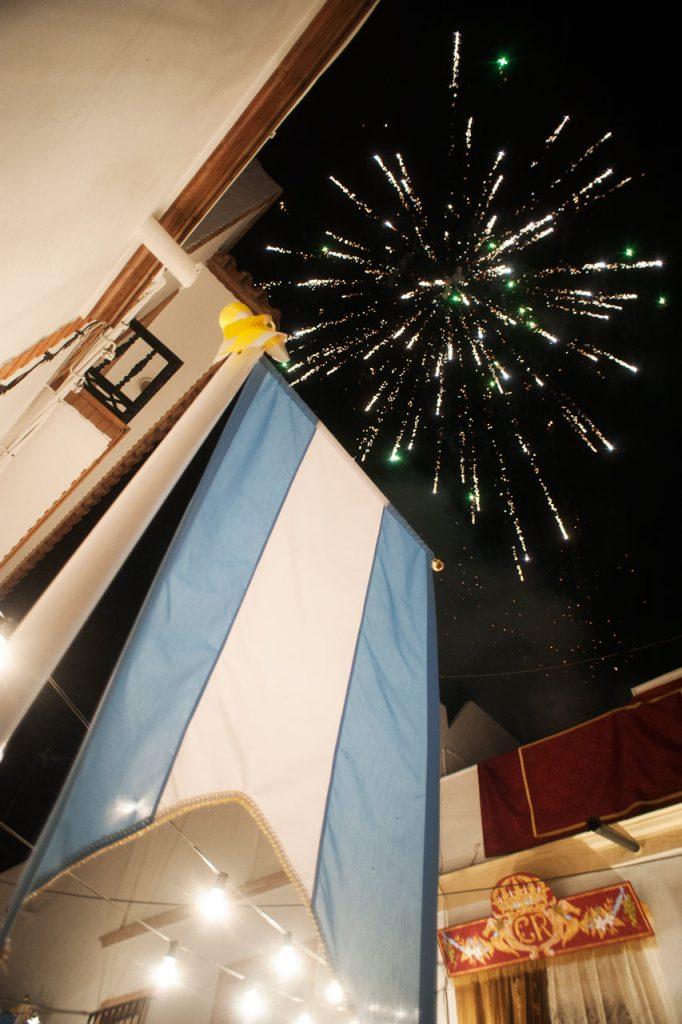 Calle en fiesta por la subida de la virgen de Cantillana. Foto: digodugo